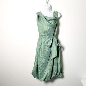 NWT Samuel Dong Aqua A Line Formal Wrap Dress